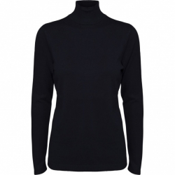 Lana Roll neck knit black- sort- pologenser- minus