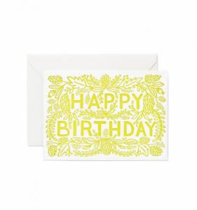 Bilde av Happy Birthday kort Rifle Paper Co