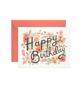 Bilde av Floral Burst Happy Birthday kort Rifle Paper Co