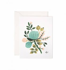 Bilde av Blue Floral kort Rifle Paper Co