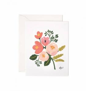 Bilde av Peony Pink Floral kort Rifle Paper Co