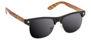 Bilde av Solbrille - Glassy Sunhaters Shredder / Black / Wood