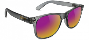 Bilde av Solbrille - Glassy Sunhaters Leonard / Dark Grey / Purple Mirror