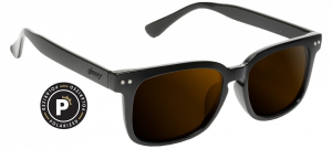 Bilde av Solbrille - Glassy Sunhaters Davis / Black / Brown Lens