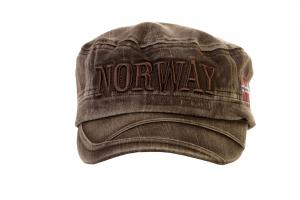 Bilde av Cap, Army modell, vasket, brun