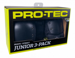 Bilde av Junior Sett - Pro-Tec Padset Street Junior 3 Pack / Black