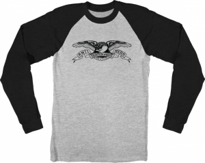 Bilde av Longsleeve - Antihero Raglan Basic Eagle / Grey / Black