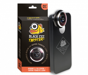 Bilde av Telefon Linse Objektiv Black Eye Iphone 5/5S Cover Super Fisheye