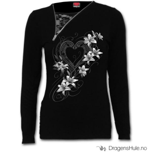 Bilde av Topp Langermet: Pure of Heart Slant Zip Neck