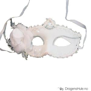 Bilde av Ballmaske: Elegant, hvit