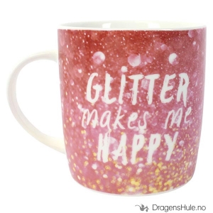 Bilde av Krus: Glitter Makes Me Happy
