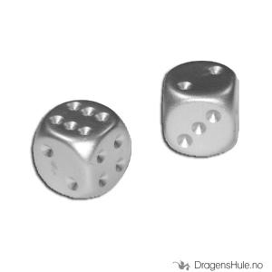 Bilde av Terninger: t6, aluminiumbelagt (2 stk)