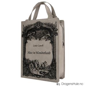 Bilde av Veske: Alice in Wonderland Book grå