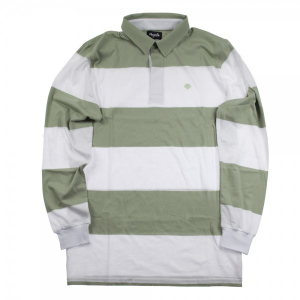 Bilde av Longsleeve - Magenta Polo Striped / White / Mint