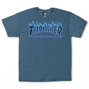 Bilde av T-skjorte - Thrasher Flame logo / Dark Heather