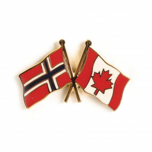 Image of Friendship pin Norway - Canada