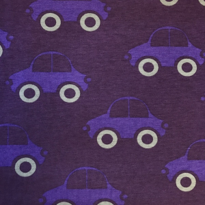 Bilde av Jersey print - Retro cars Purple