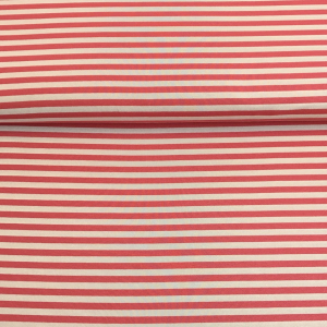 Bilde av Viskosejersey - Stripes, soft red and offwhite