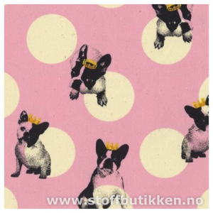 Bilde av Kokka canvas - Bulldog white dots