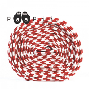 Bilde av Paapii ribb - striped red/white organic