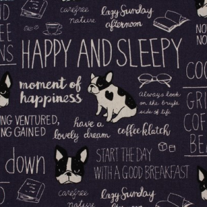Bilde av Kokka canvas - Happy and sleepy, navy