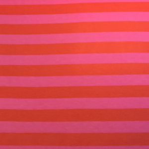 Bilde av Viskosejersey - Stripes red/pink