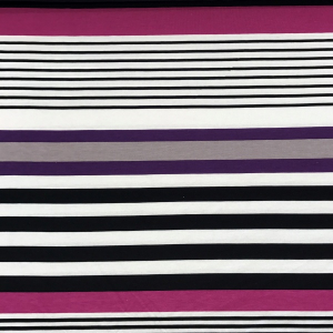 Bilde av Viskosejersey - Tiny stripes purple