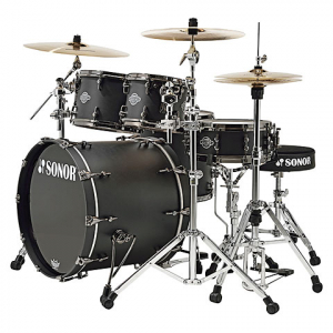 Bilde av SONOR ASCENT ASC11 Stage 3 Matte Black trommesett