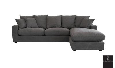 Stor sofa med sjeselong