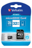 Verbatim Micro SDHC Card 32GB Class 10 m/adapter