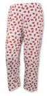 Pajama pants with Norwegian flags, White