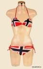 Bikini i norsk flagg