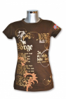 Womans T-Shirt, Brown/Gold